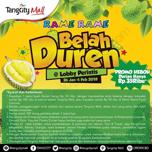 Promo Heboh Durian Hanya Rp 35.000 Periode 26 jan - 4 Feb 2018