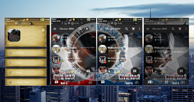 download BBM Mod Clone Civil War With Animasi Background Versi 2.13.1.13 Terbaru