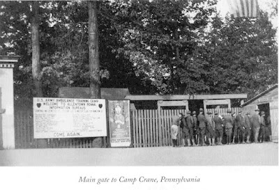 Entrance to Camp Crane, Allentown, PA, 1918