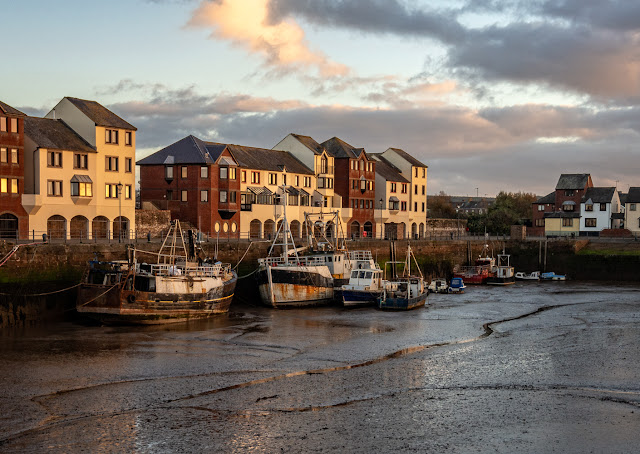 Photo of low tide at Maryport Harbour