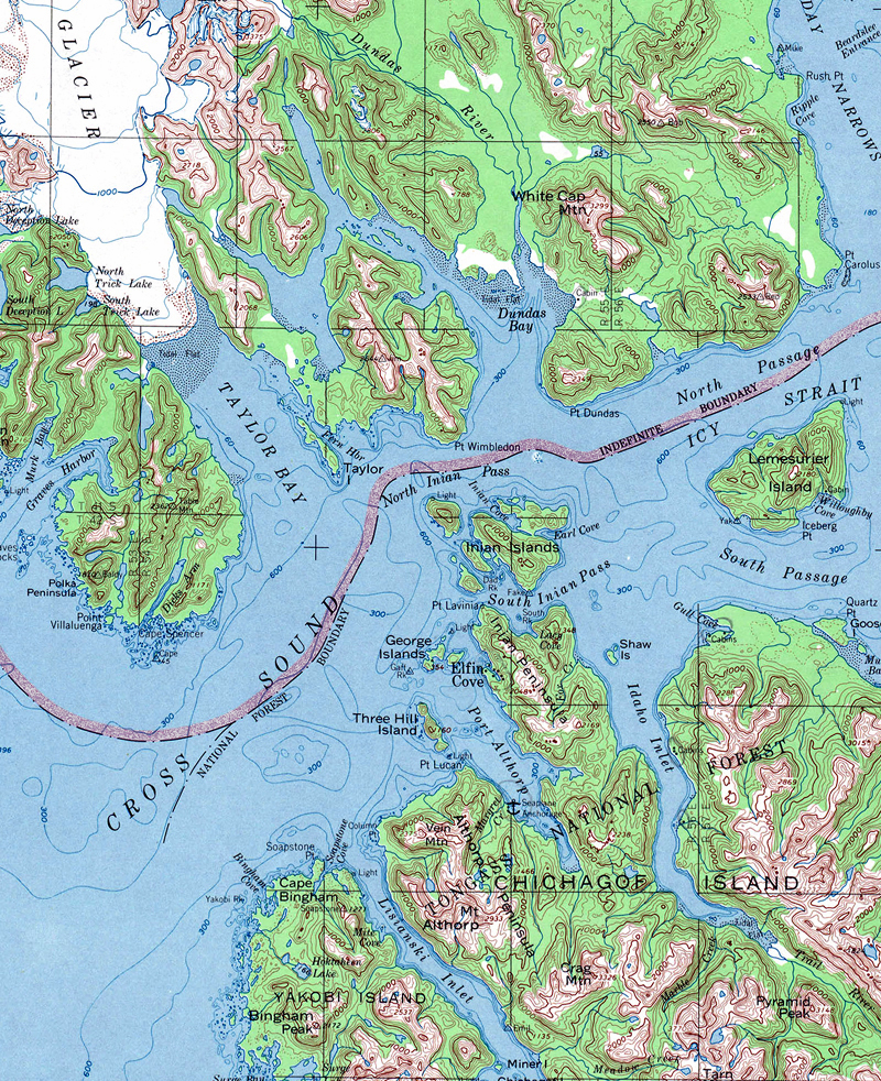 Pelican Bay Alaska Map.Northwest Explorer Pelican To Hoonah 2005