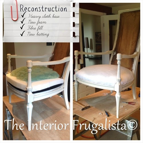Vintage High Back Throne Arm Chair reconstruction