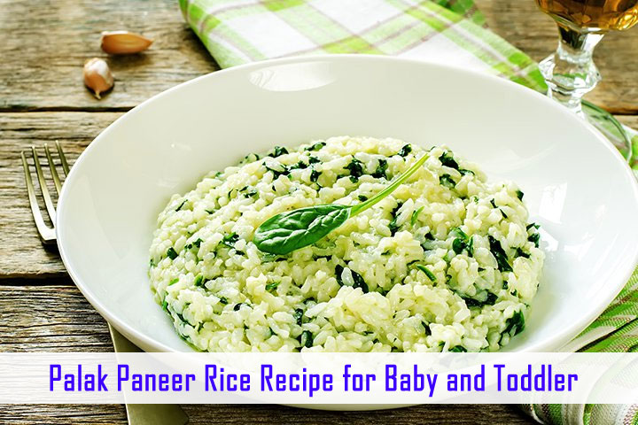 Palak Paneer Rice Recipe for Baby and Toddler