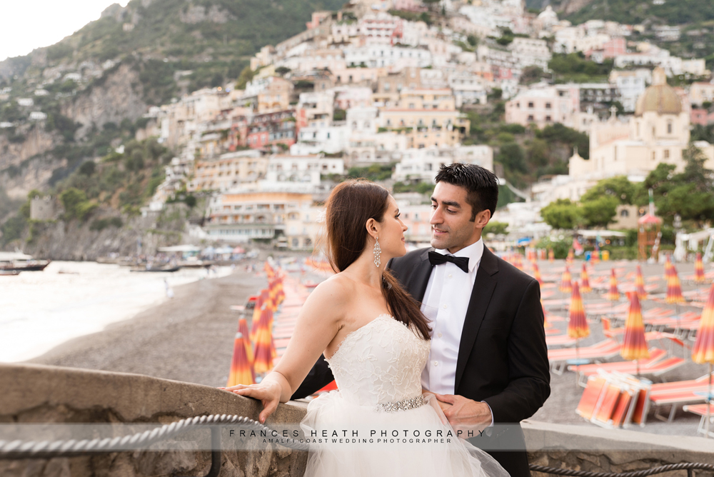 Wedding portrait in Positano