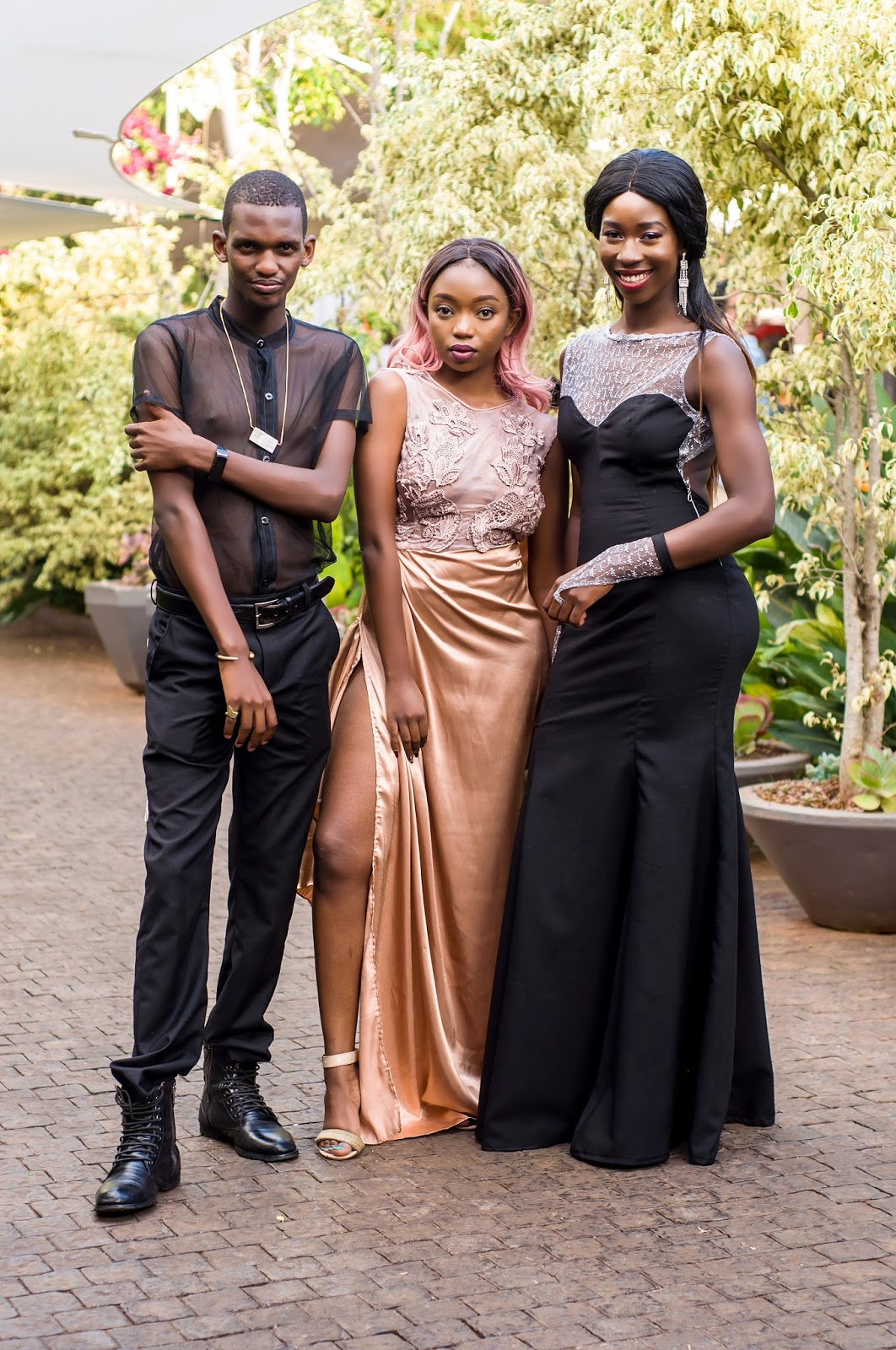 fashion high tea, what to wear to fashion high tea, gown with gloves, black and silver gown, style with ezil, ezil, events in kenya