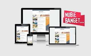 """Template yang namanya """"Nubie Banget Responsive Blogger Template"""""""