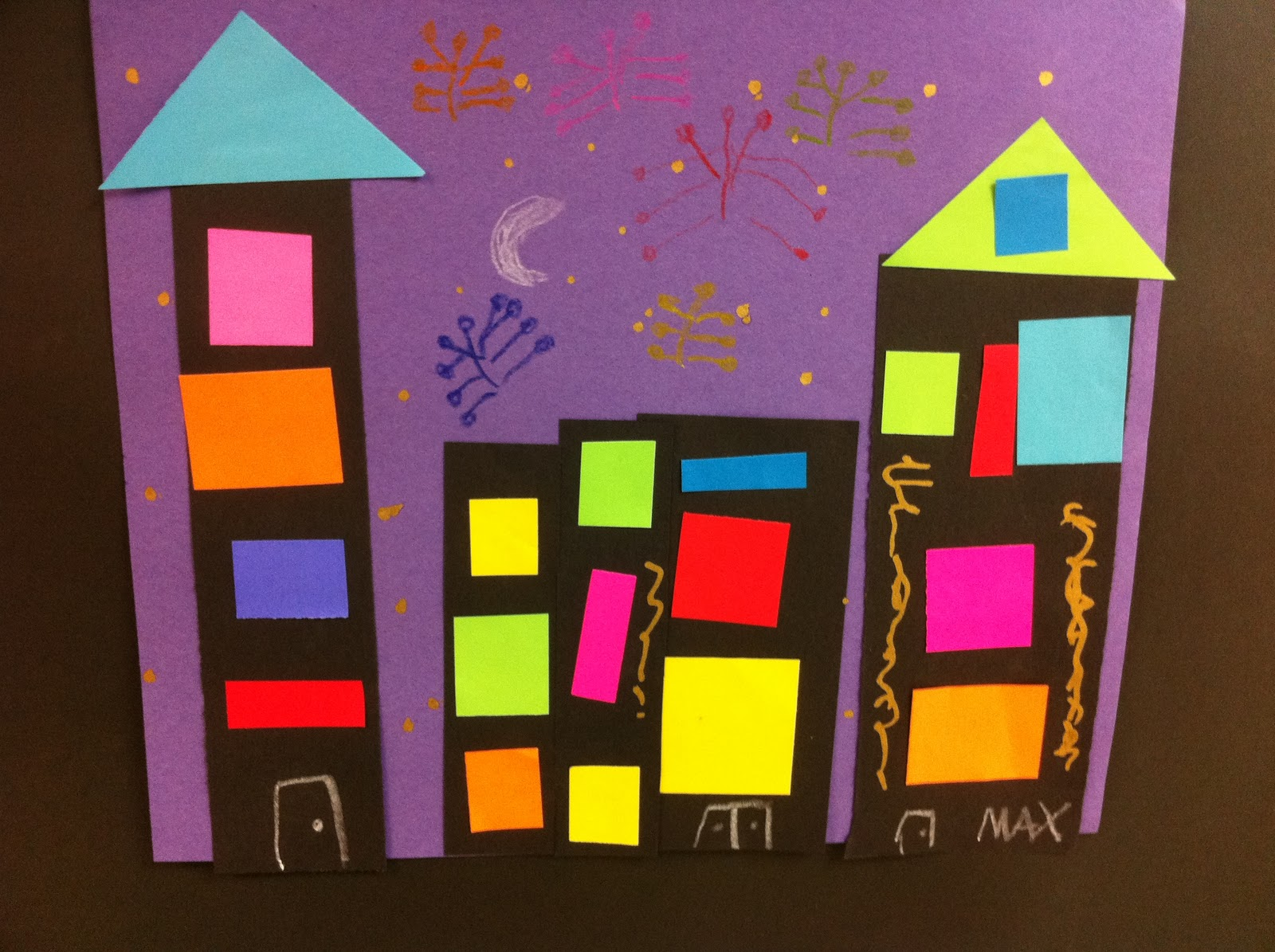 Art Lessons : Art sub lessons cityscape for kinders