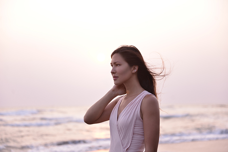 Euriental | fashion & luxury travel | light pink ASOS maxi dress on a beach in Bali