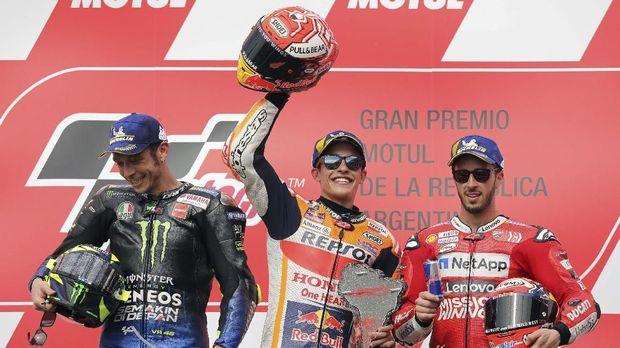 Pebalap Marquez Tidak Anggap Rossi Rival Paling Berbahaya Lagi 2019