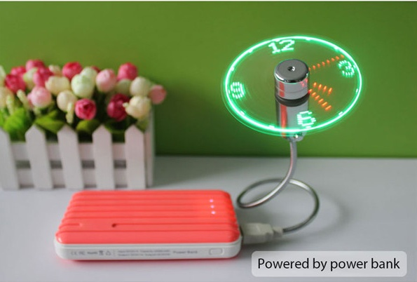 USB Fan Clock with PowerBank