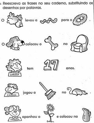 Blog Professor Zezinho Atividades Exercicios De Alfabetizacao