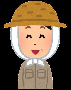 農家の女性のイラスト(笑った顔)