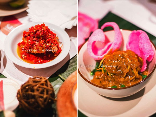 Left: Ayam Balado | Right: Lontong Pecel (Culinary Bonanza)