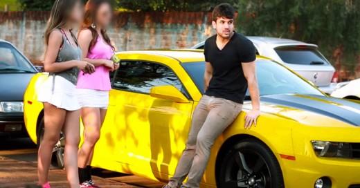 Experimento con coches de lujo expone a Mujeres Interesadas