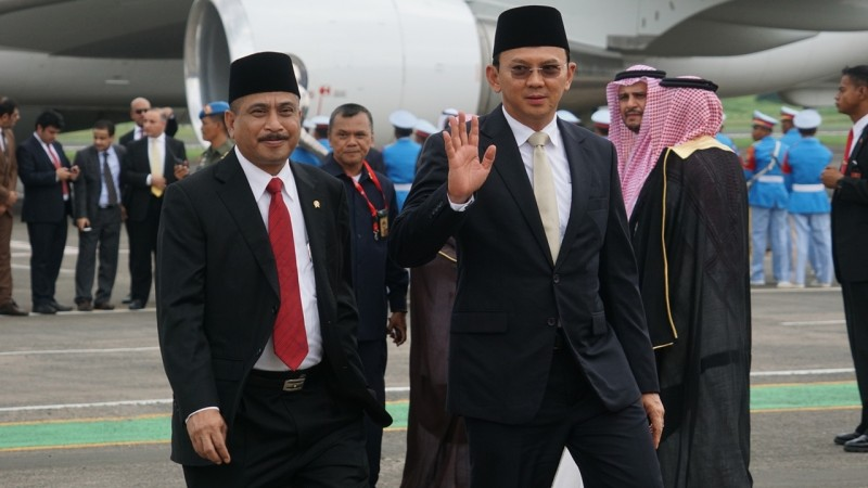 Arief Yahya dan Ahok bersiap menyambut Raja Salman