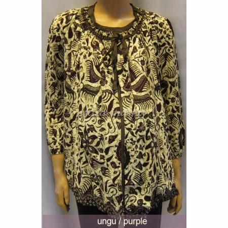 Contoh Desain Baju Hamil Batik Kerja Modern