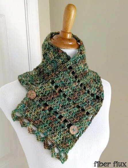 Free Knitting Patterns Cowls With Buttons : Fiber Flux: Free Crochet Pattern...Earth Fairy Button Cowl!