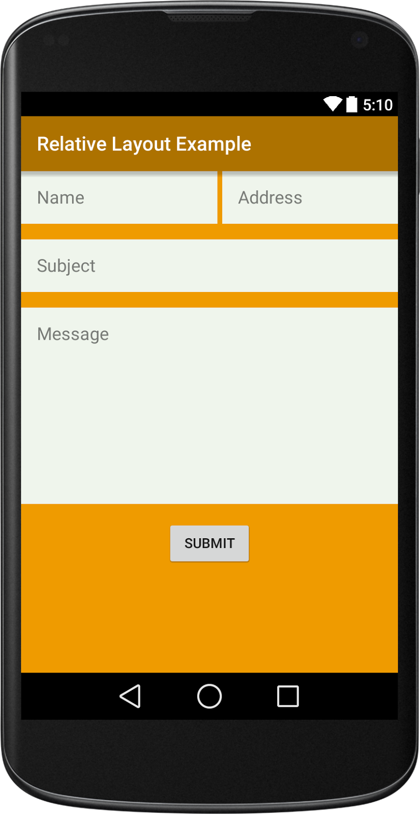 android relative layout example viral android tutorials