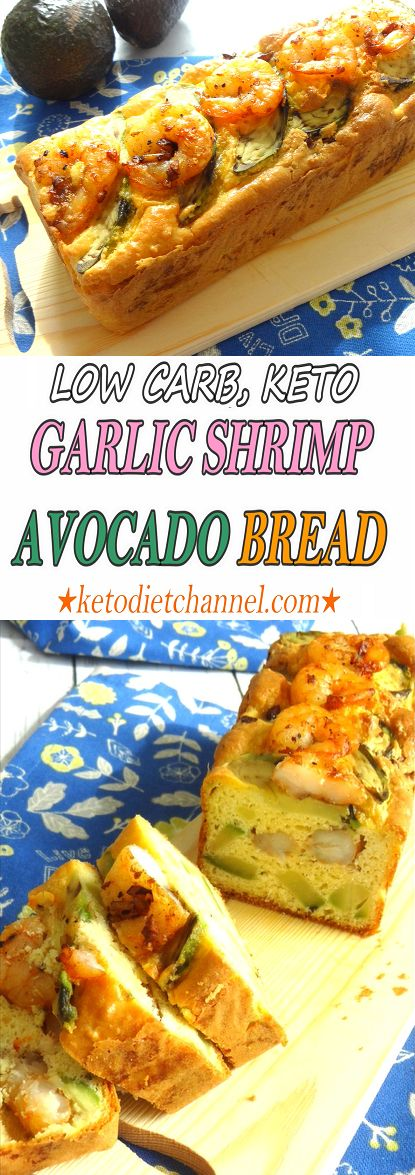 Garlic Shrimp Avocado Bread / Keto / Low Carb / Gluten Free