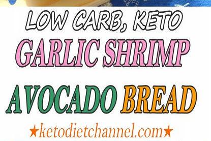 Garlic Shrimp Avocado Bread / Keto / Low Carb / Gluten Free