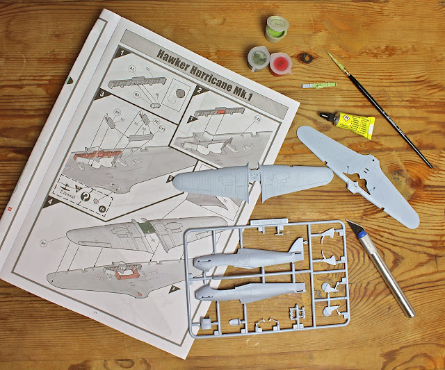 The Butterfly Balcony: Wendy's Week - Planting & Playing with Planes - Making up my Hurricane Airfix kit