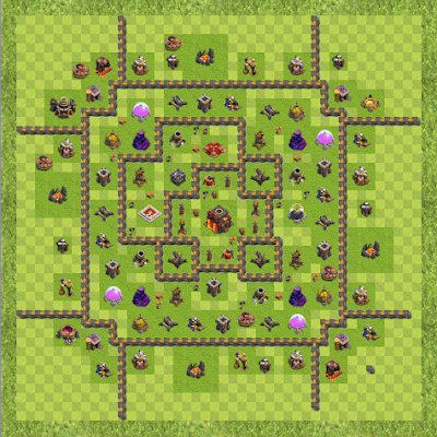 War Base Town Hall Level 10 By roguemanx (roguemanx TH 10 Layout)