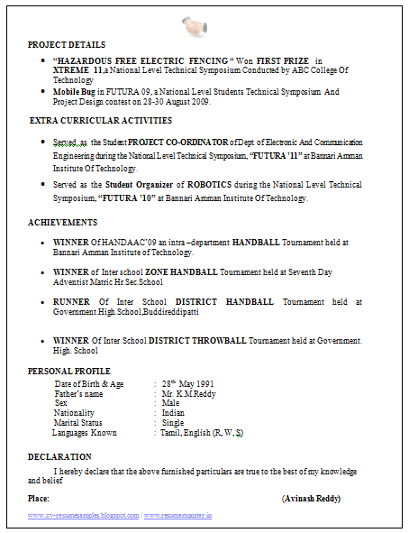 over 10000 cv and resume samples with free download electronics