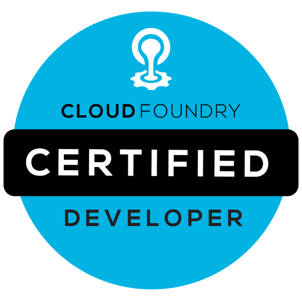 Certified CloudFoundry Developer