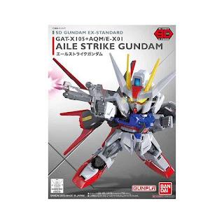 Bandai Gunpla-Gundam SD Ex-Standard 002 Aile Strike Model Kit [96728 0472713]