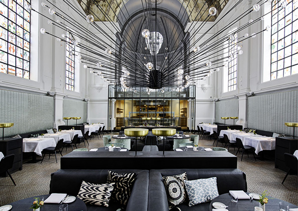 The Jane Antwerp restaurant Belgium design by Piet Boon