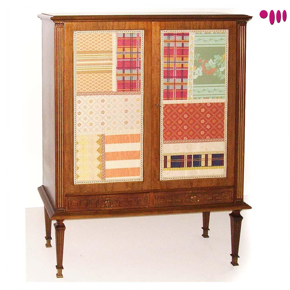 Credenza impero tessuto patchwork design myartistic - Mobili restaurati ...