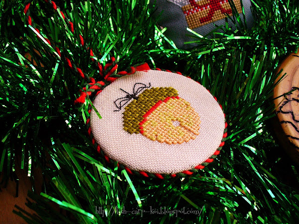Желудь Jingle-corn The Cricket Collection - пинкип, вышитый крестиком
