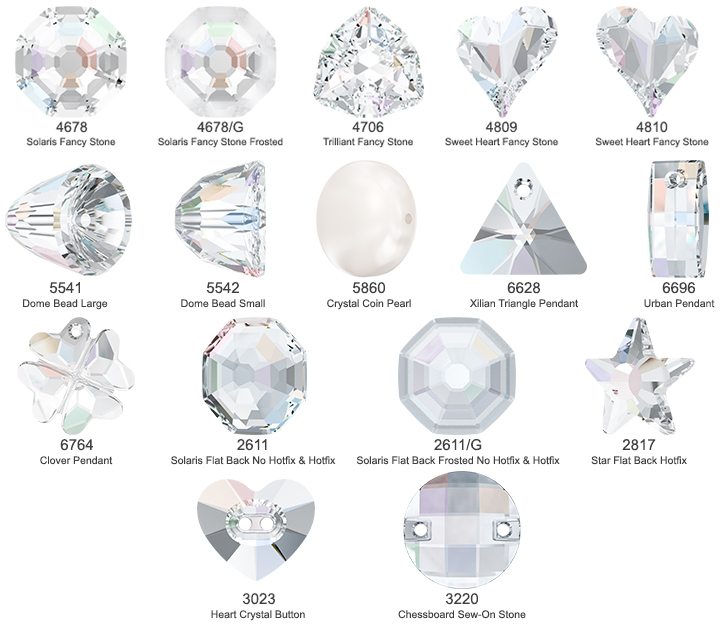 Swarovski Consistently and Best Shapes