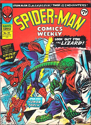 Spider-Man Comics Weekly #93, the Lizard and the Human Torch
