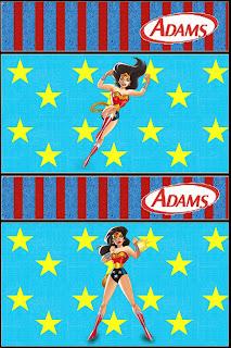 Etiqueta De Chicle Adams para imprimir gratis.
