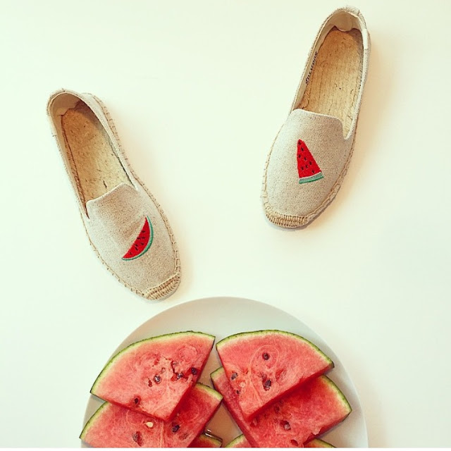 soludos, watermelon soludos, watermelon, summer, fashion blog