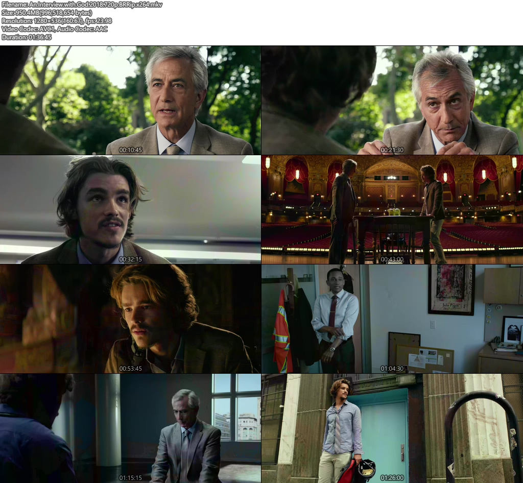 An Interview with God 2018 720p BRRip x264 | 480p 300MB | 100MB HEVC Screenshot
