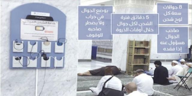 Masjidil Haram Kini Luncurkan Fasilitas Isi Ulang Baterai Ponsel