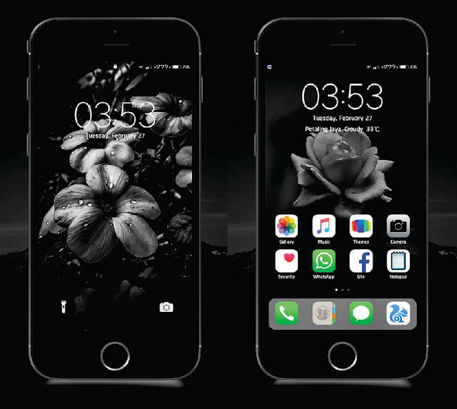 Xiaomi Theme Fake IOS 11 Final Dark Mtz