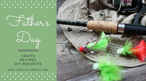 Father's Day  crafts, recipes, DIY projects from Creative Green Living - fishing bait jigs