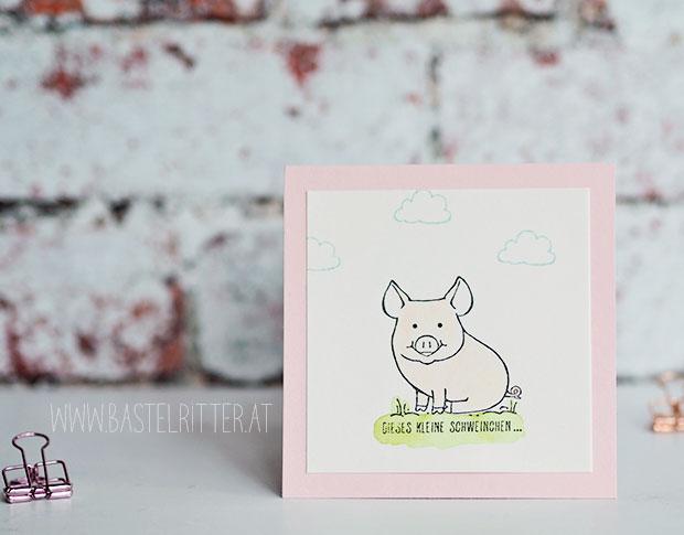 stampin up cest la schnipselritter gluecksschweinchen this little piggy bastelritter memory