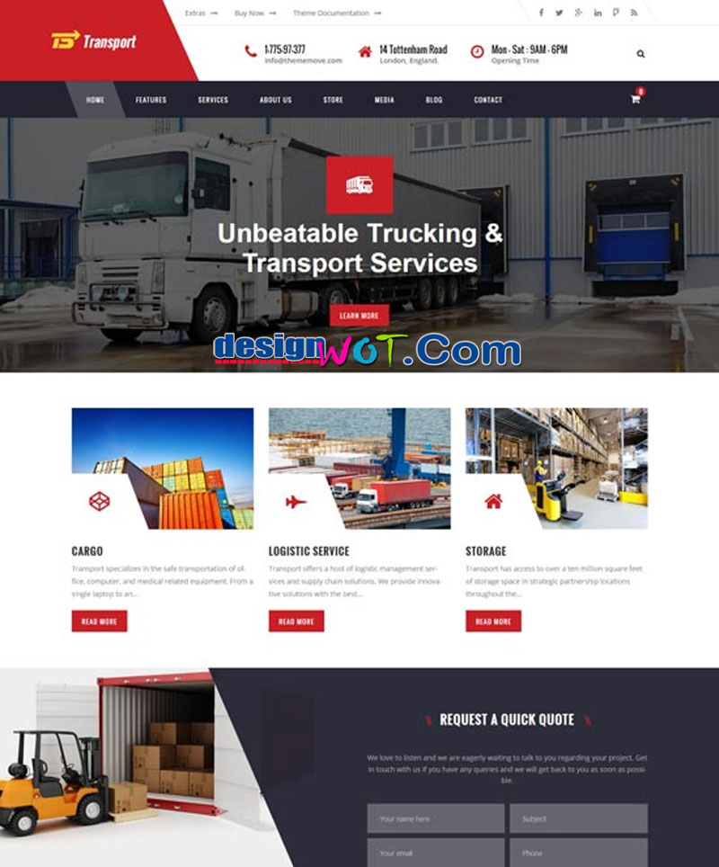 Transport - Transport, Logistic & Warehouse WP
