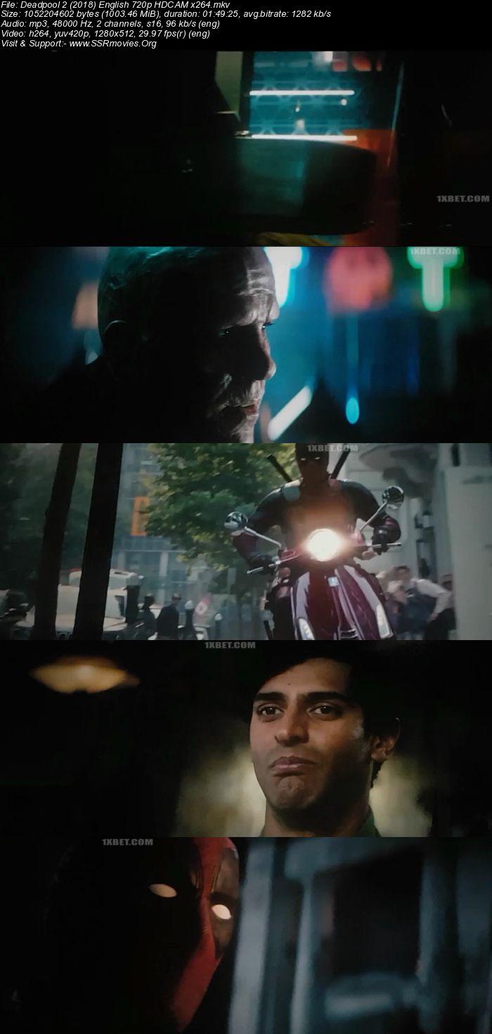 Deadpool 2 (2018) English 720p HDCAM x264