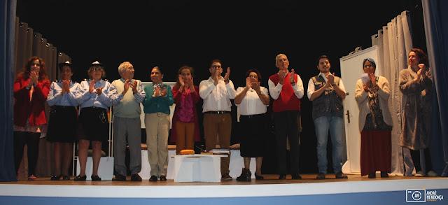 Grupo cénico do GIPA no palco