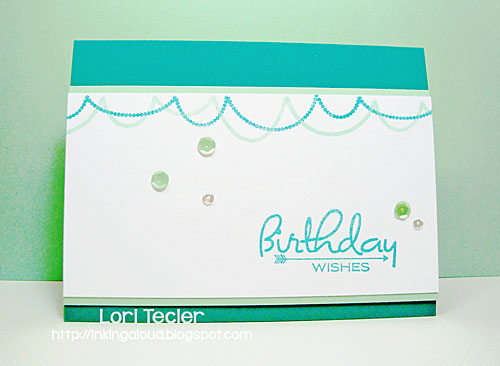 Birthday Wishes card-designed by Lori Tecler/Inking Aloud-stamps from Papertrey Ink