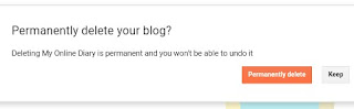 Important option for permanently delete your blog