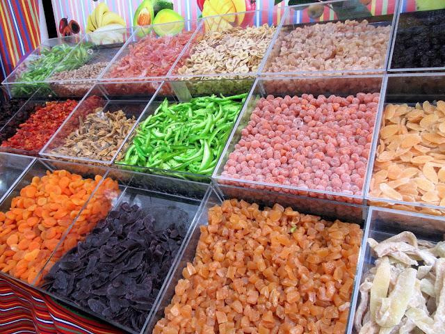 candied fruit in the Mercado dos Lavradores