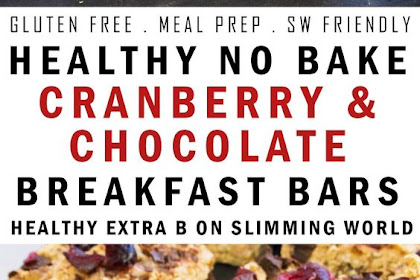 HEALTHY NO BAKE CRANBERRY & CHOCOLATE BREAKFAST BARS