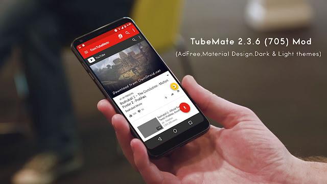 TubeMate 2.3.6 (705) apk modded (Adfree & Material Design)