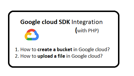 How to upload files to Google Cloud with PHP?